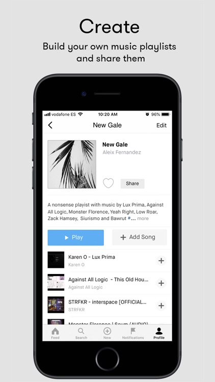 Playmoss - social music app