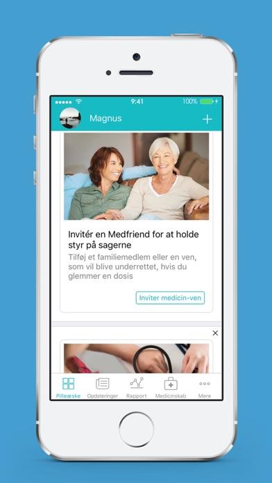 Screenshot for Pille Påmindelse - Medisafe in Denmark App Store