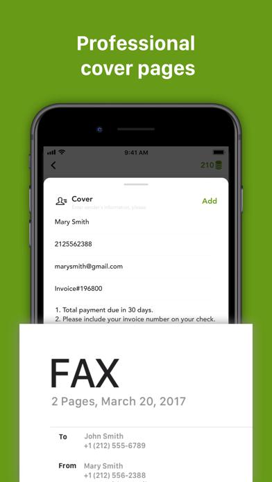 Fax++ - Send fax from iPhone Screenshot