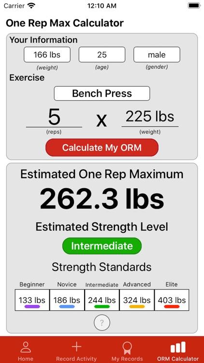 ORM: Strength Progress Tracker screenshot-4