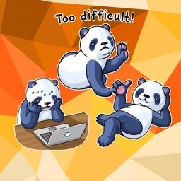 Kawaii Lazy Panda Stickers