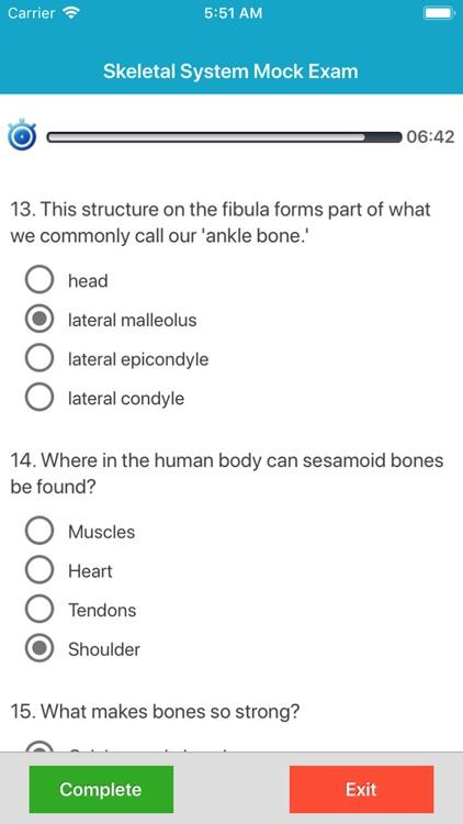 Skeletal System Quizzes screenshot-5