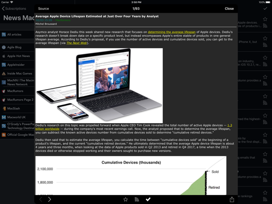 Screenshot #6 pour tiny Reader RSS