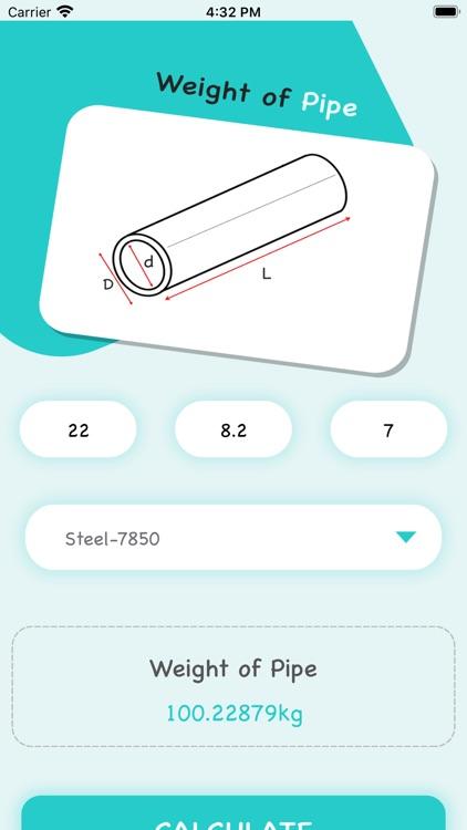Pipe Weight Calculator