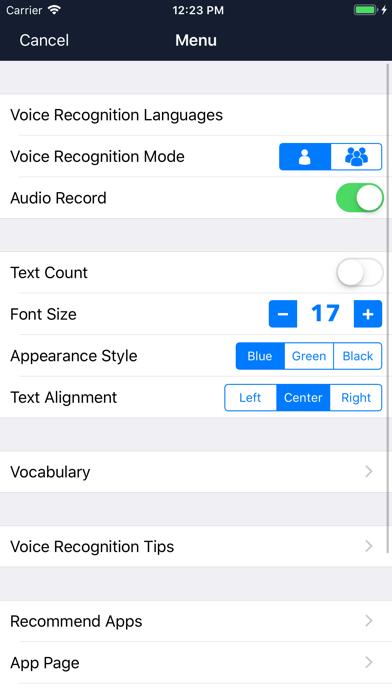 Voice Dictation - Speechy Screenshots