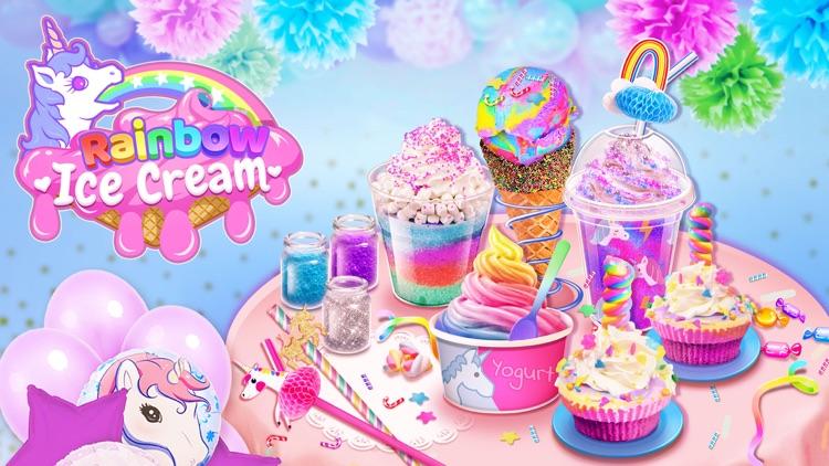 Rainbow Unicorn Ice Cream Game screenshot-0