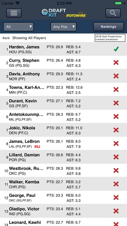 Fantasy Basketball Draft '18 screenshot-0