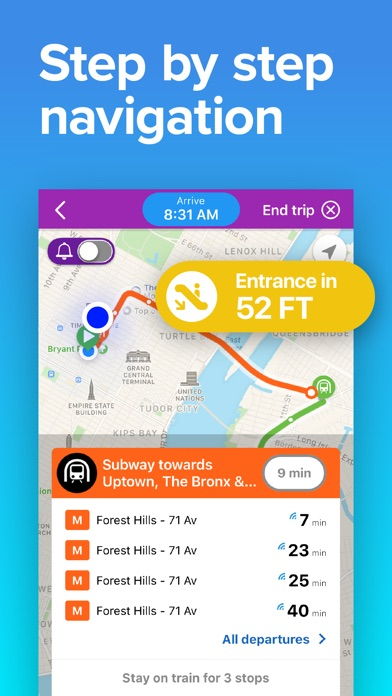 Screenshot for NYC Transit: MTA Subway & Bus in United States App Store