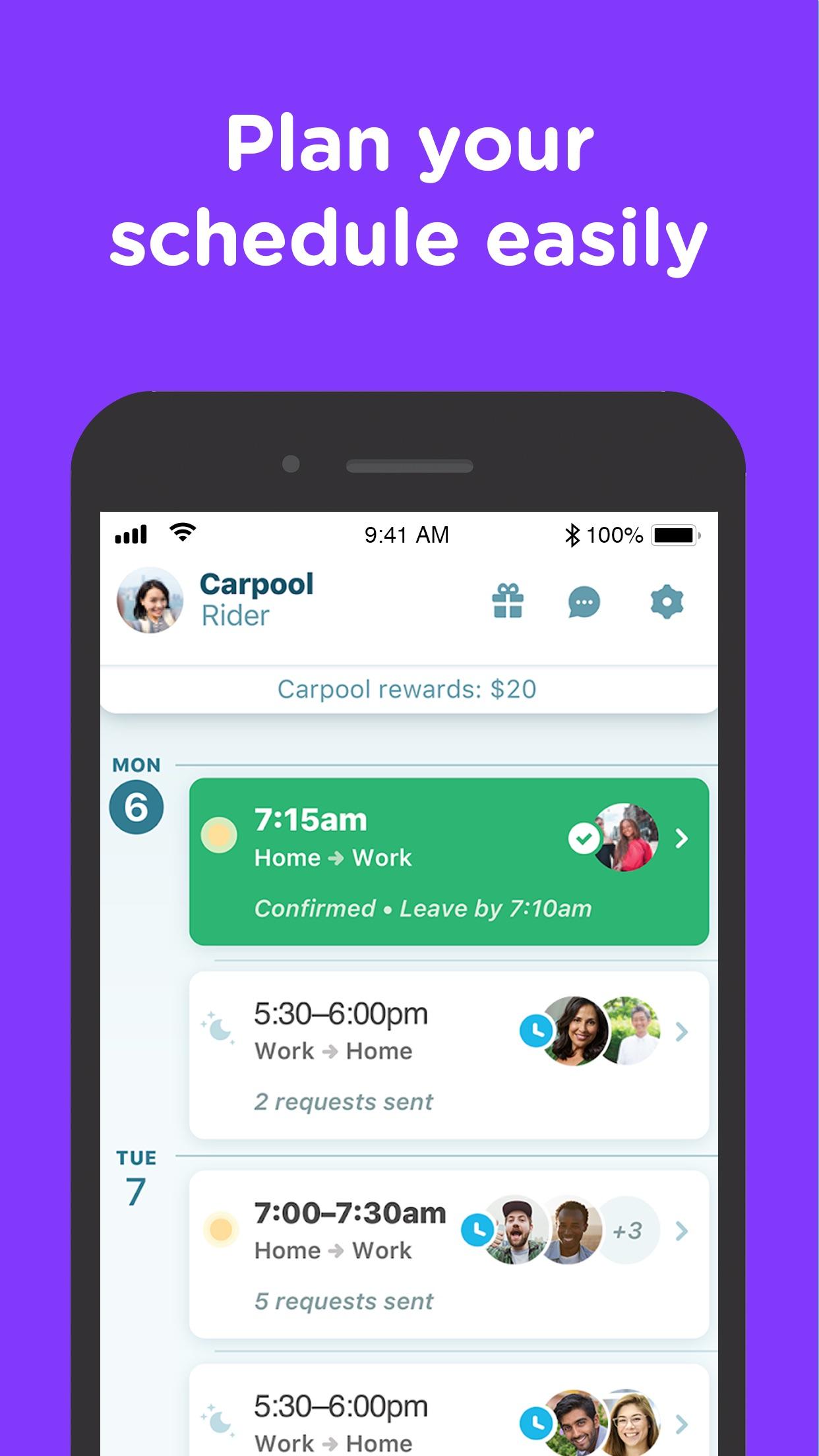Waze Carpool Screenshot