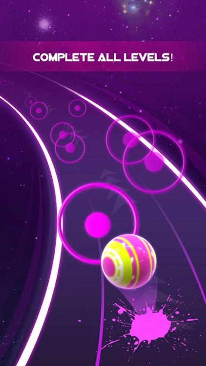Dancing Neon Ball: Rush Road screenshot-4