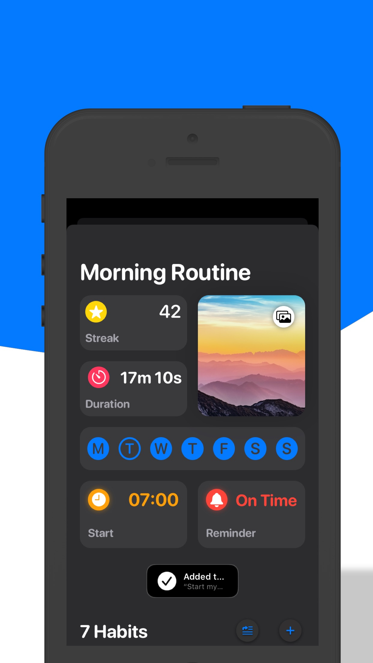 Morning Routine Habit Tracker Screenshot
