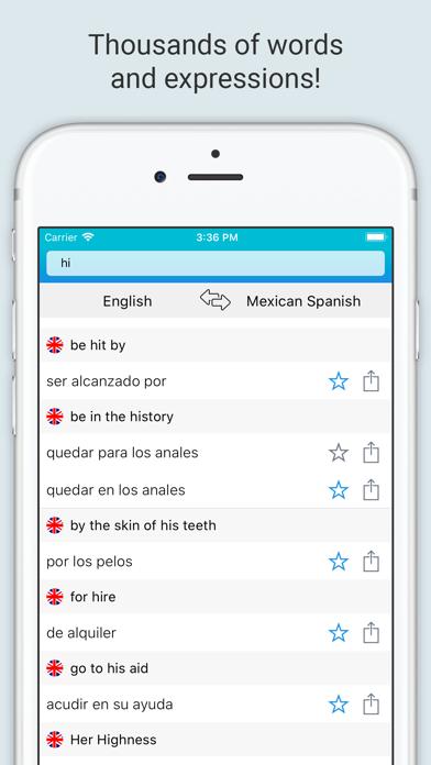 English Mexican Dictionary + screenshot 3