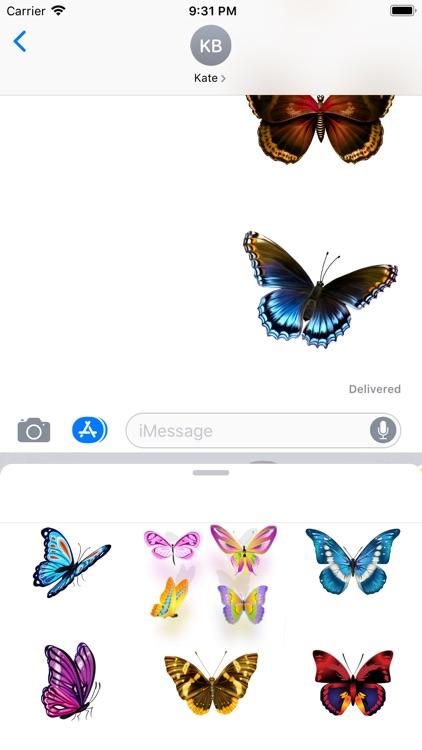 Butterflies Pack Stickers screenshot-3