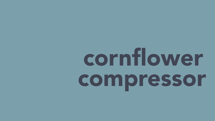Cornflower Compressor