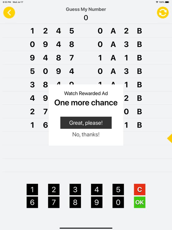 Guess Number - 1A2B screenshot #3