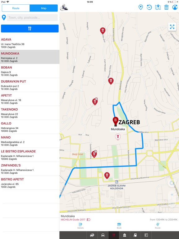 ViaMichelin GPS, Route Planner screenshot
