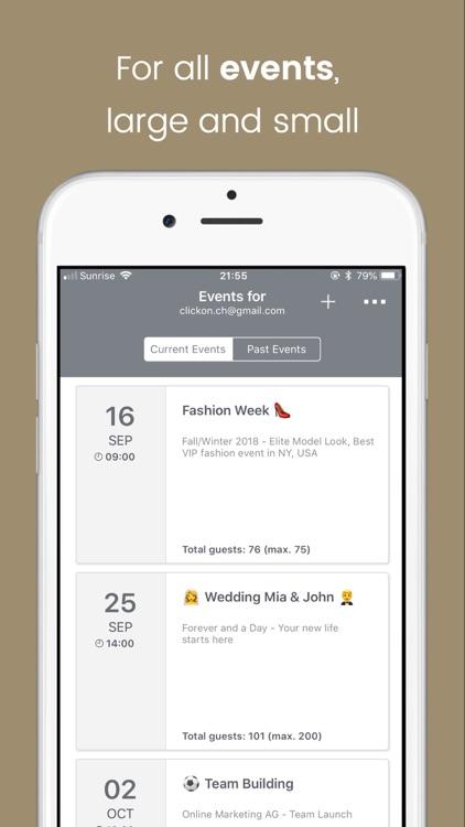 Eventor.app   Guest List