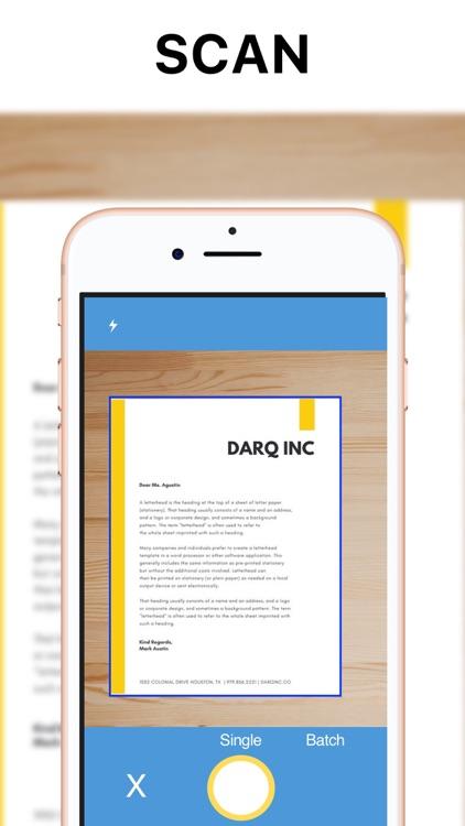 Pop Scanner - PDF scan email