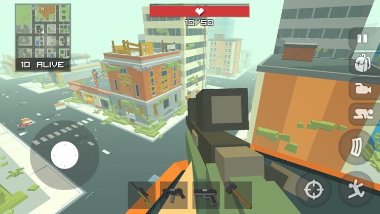 Pixel Battle Royal Shooter 3D screenshot-0