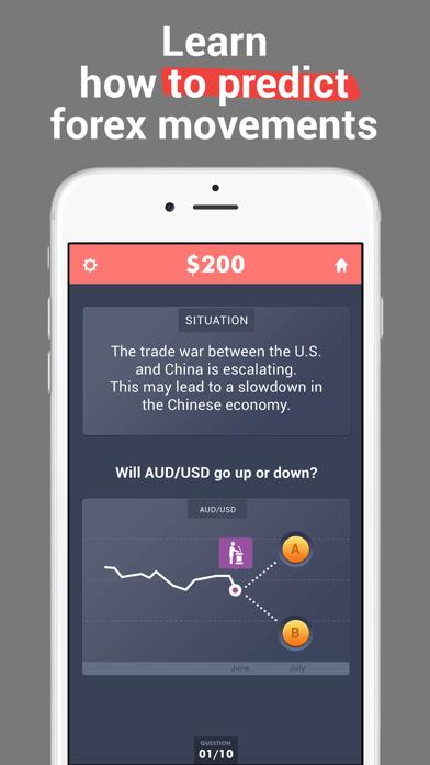 Forex & Stock Market Game Screenshot on iOS