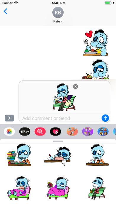 Blue Zombie Stickers Screenshot