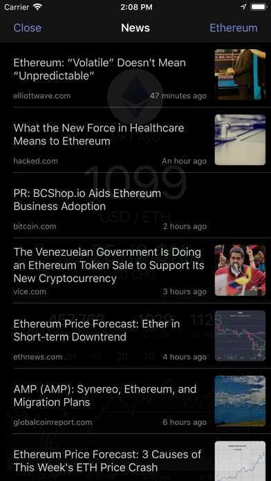 EthereumTick Ethereum Ticker