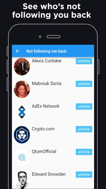 Followers Scan and tracker