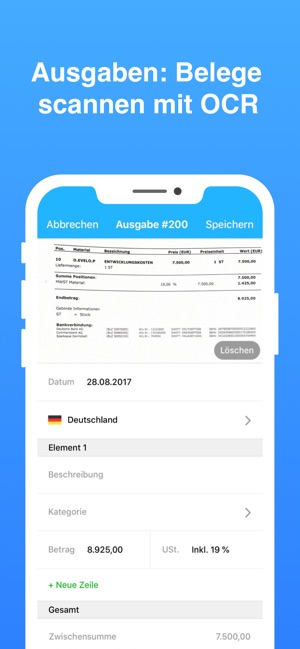 Debitoor - Rechnung schreiben Screenshot