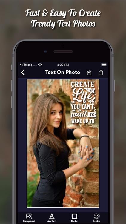 TextArt: Text On Photo