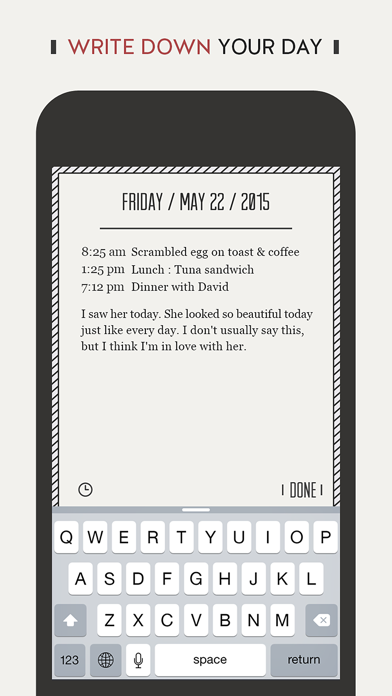 DayGram - One line a day diary Screenshots