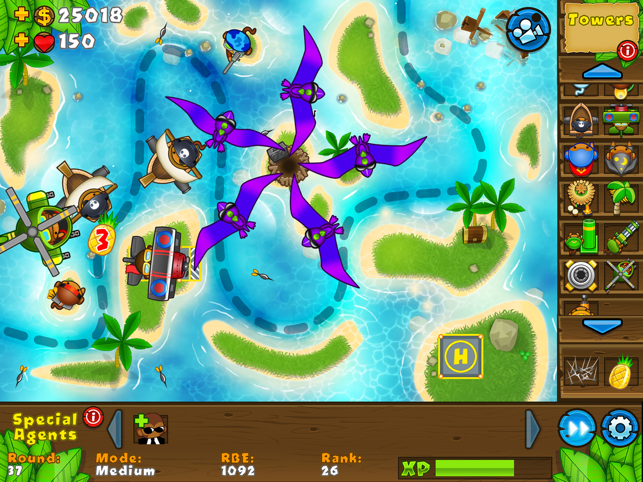 Bloons TD 5 HD, game for IOS