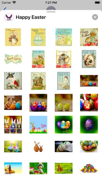 Happy Easter Emoji Stickers screenshot-4