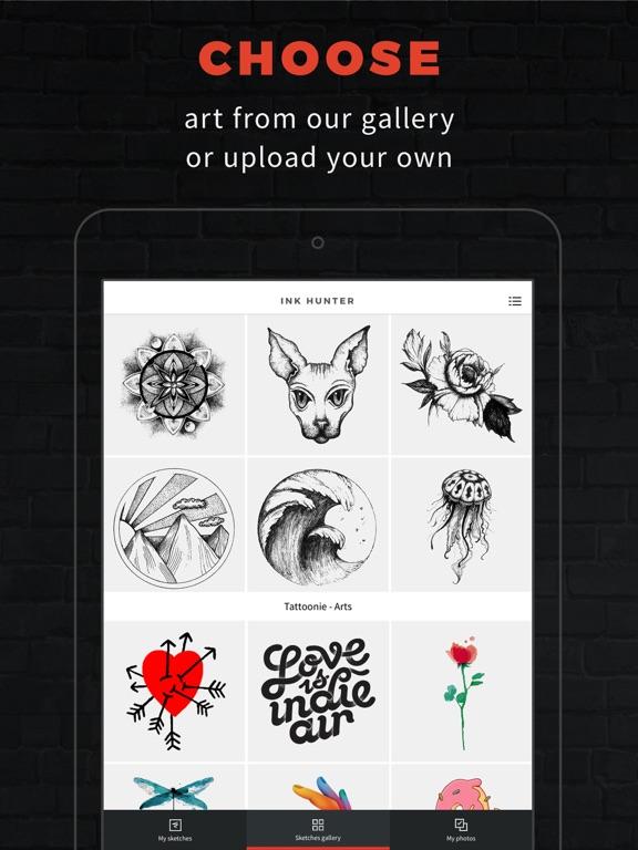 INKHUNTER PRO Tattoos try on ipad ekran görüntüleri
