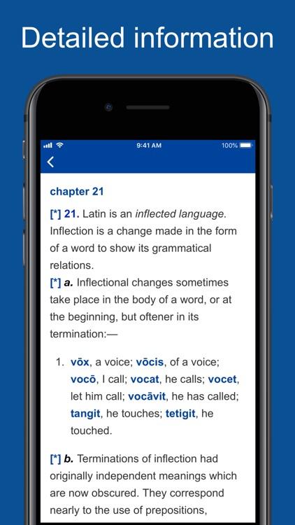 New Latin Grammar, Glossary screenshot-5