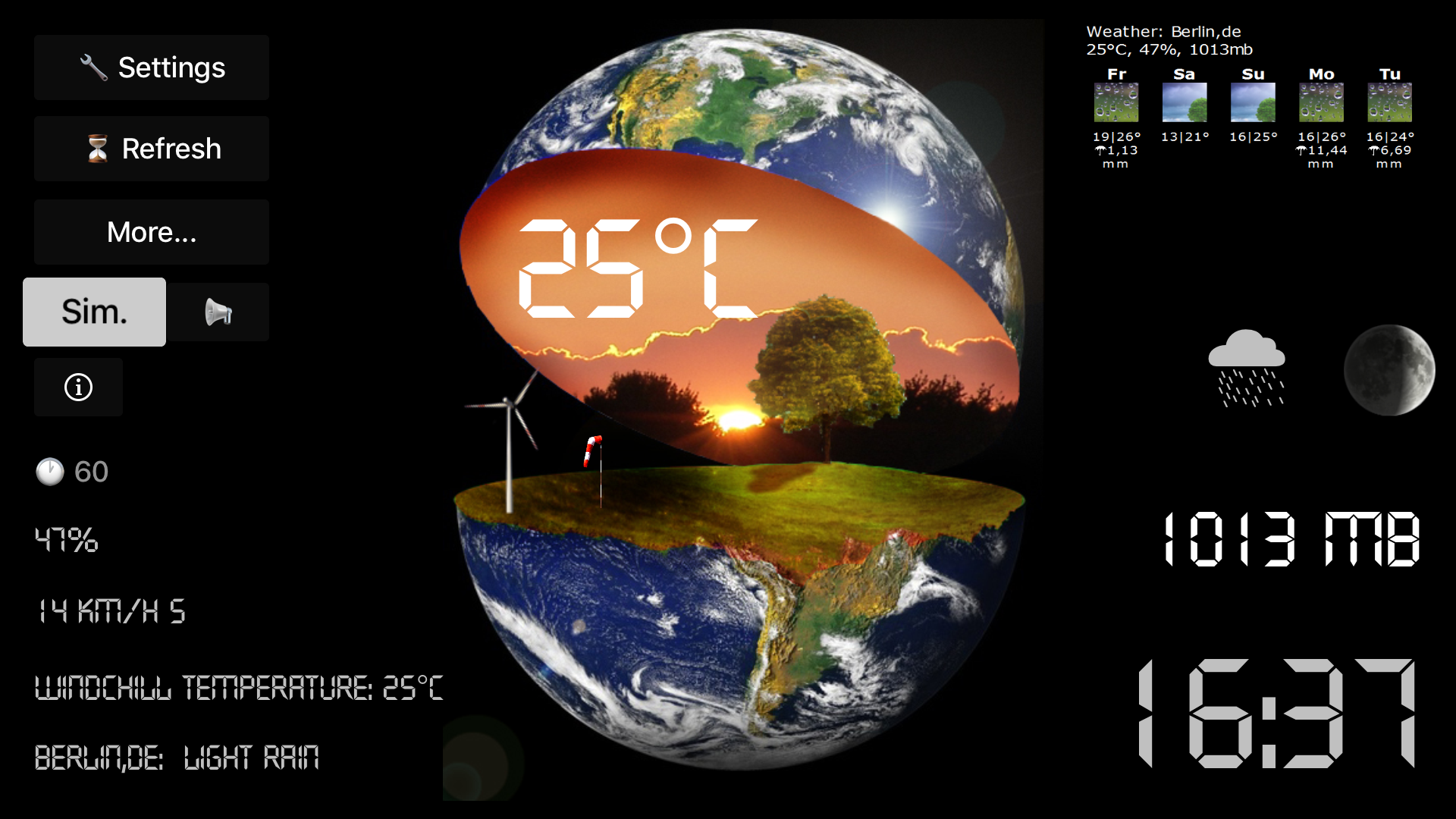 TV Weather Globe screenshot 2