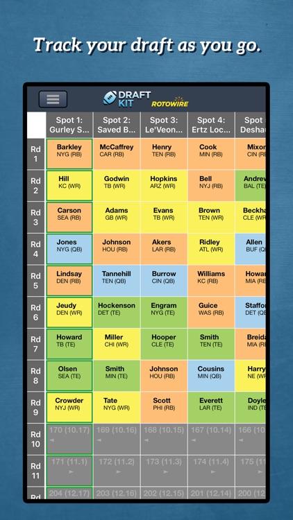 Fantasy Football Draft Kit '20 screenshot-4