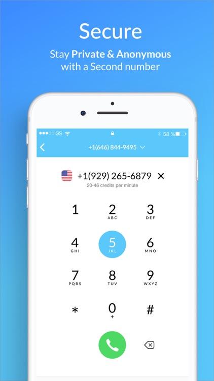 Second Phone Number - SIMless screenshot-3