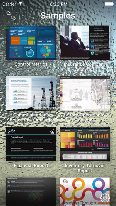 IBM Cognos Mobile screenshot one