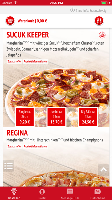 Screenshot for Call a Pizza App in Germany App Store