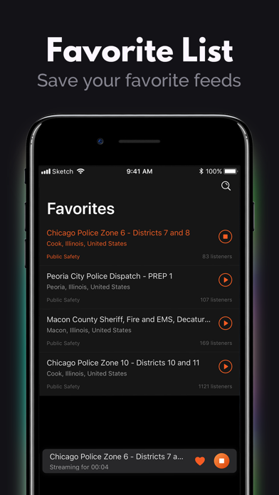 Fire & Police Scanner Radio