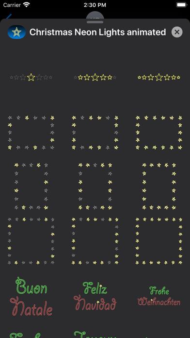 Christmas Neon Lights animated screenshot four