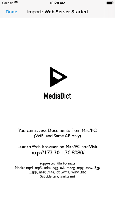 MediaDict Screenshots
