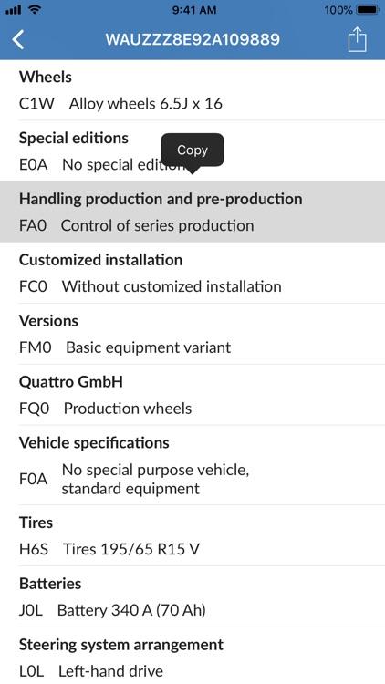 VIN Decoder for Audi screenshot-3