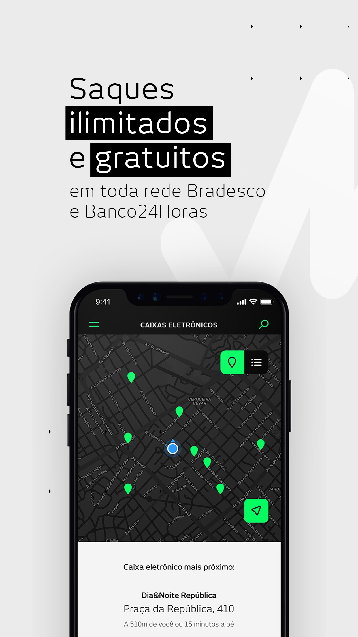 Screenshot do app banco next