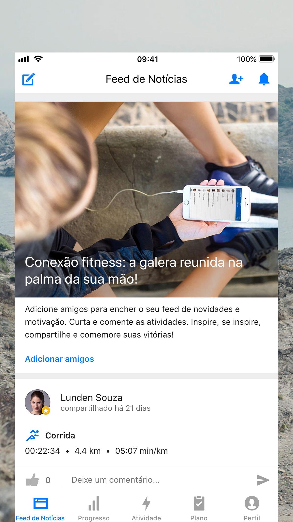 Screenshot do app Runtastic PRO Correr Caminhar