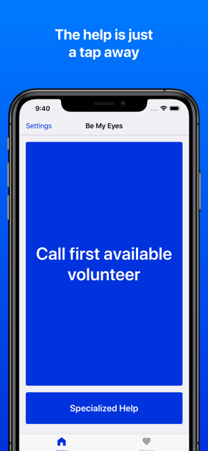‎Be My Eyes – Helping blind see Screenshot
