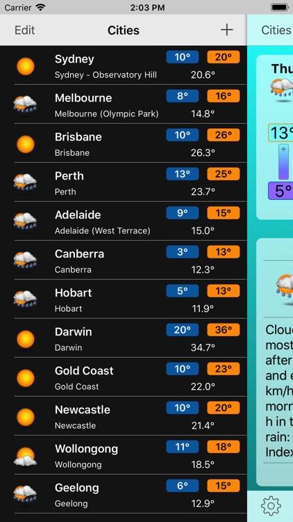 Oz Weather Plus screenshot-3
