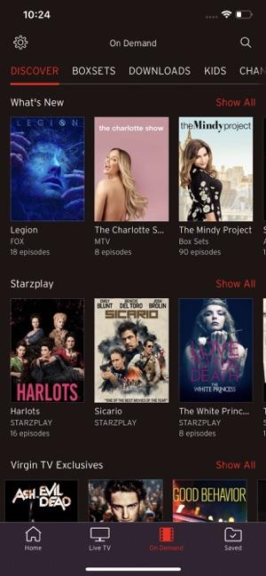 Virgin TV Go on the App Store