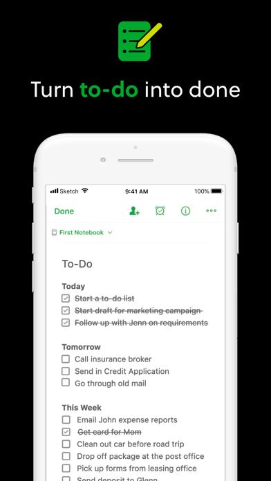 Evernote Screenshot on iOS