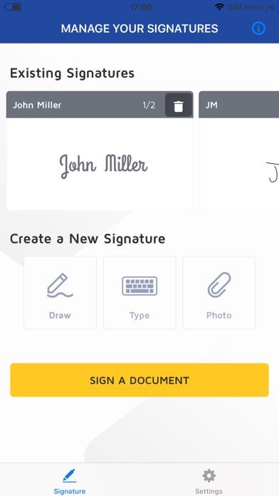 DSA Sign screenshot two